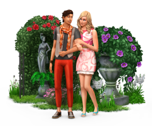 The Sims 4: Romantic Garden Stuff Render