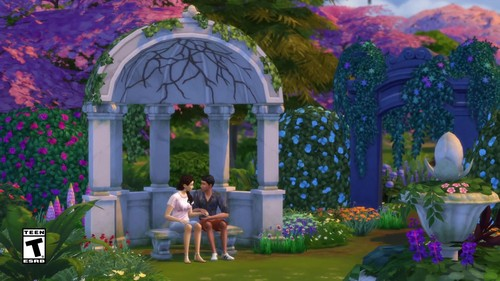 Sims 4 Wallpaper Titled The Sims 4: Romantic Garden Stuff