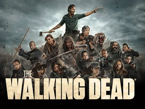 Walking Dead fond d'écran titled The Walking Dead - All Out War Poster