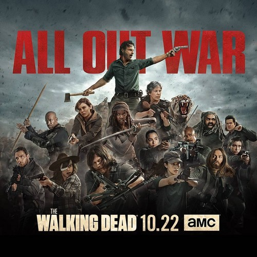 The Walking Dead karatasi la kupamba ukuta called The Walking Dead - All Out War Poster