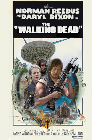 "The Walking Dead ""Diamonds Are Forever"" Movie Tribute Poster for the 100th Episode"