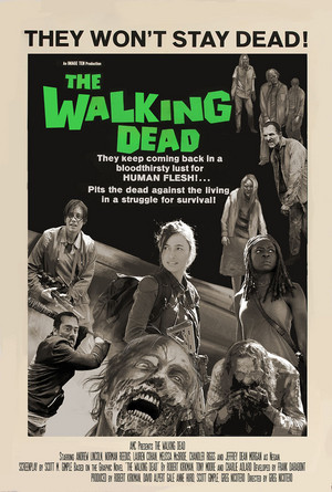 "The Walking Dead ""Night of the Living Dead"" Movie Tribute Poster for the 100th Episode"
