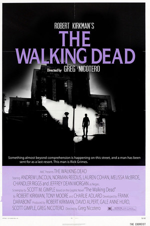 """The Walking Dead """"The Exorcist"""" Movie Tribute Poster for the 100th Episode"""