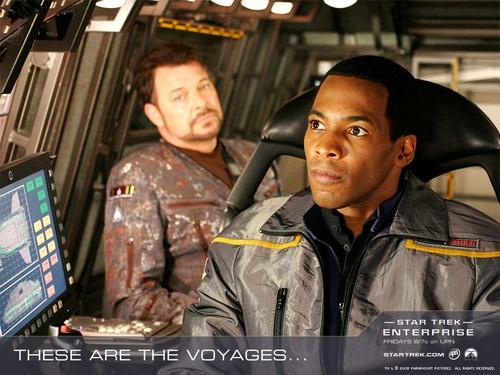 étoile, étoile, star Trek - Enterprise fond d'écran called These Are the Voyages...