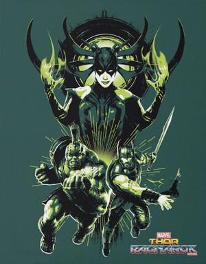 Thor: Ragnarok - Hela, Hulk and Thor Poster
