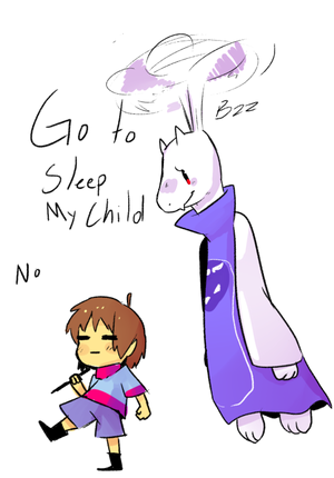 Toriel Dreemurr, the LITERAL helicopter parent