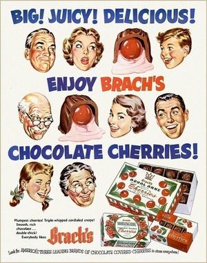 Vintage Süßigkeiten Advertisements
