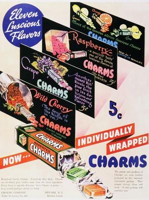 Vintage ক্যান্ডি চকোলেট Advertisements