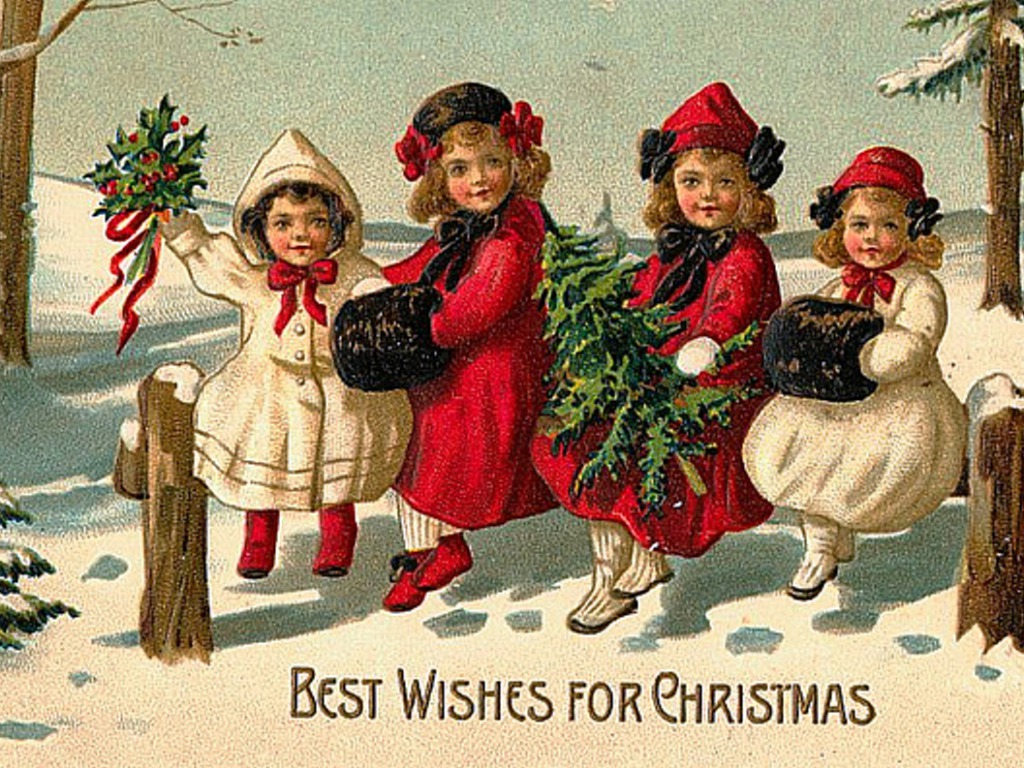 Christmas images Vintage Christmas Cards HD wallpaper and background ...
