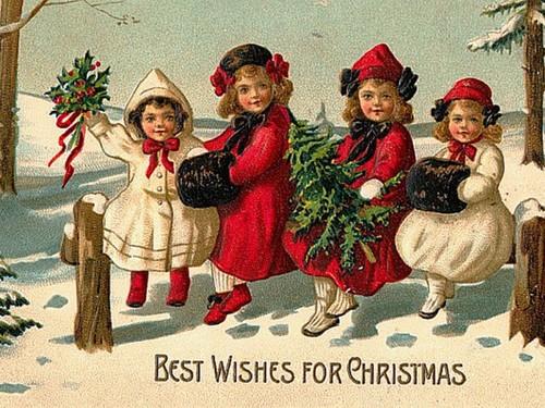 クリスマス 壁紙 called Vintage クリスマス Cards