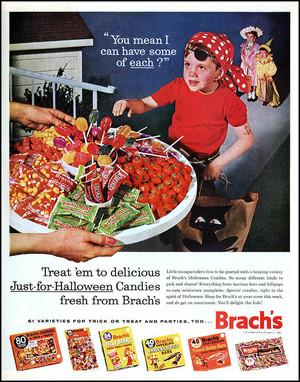 Vintage Halloween caramelle Ads