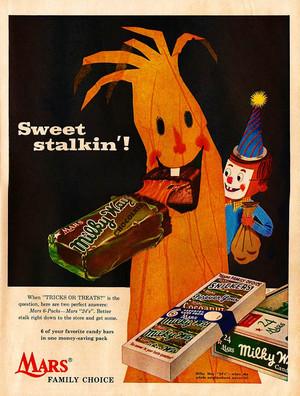 Vintage हैलोवीन कैन्डी Ads