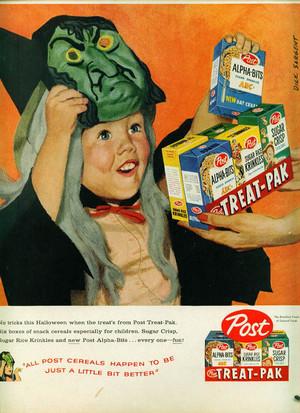 Vintage halloween dulces Ads