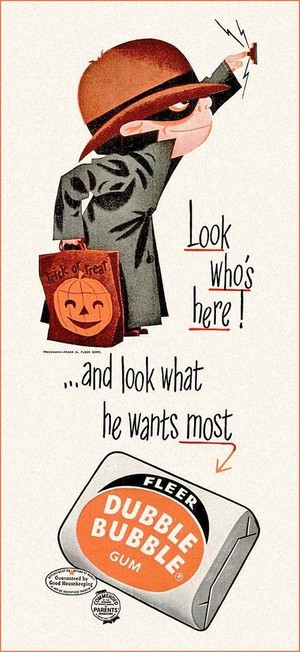Vintage হ্যালোইন ক্যান্ডি চকোলেট Ads
