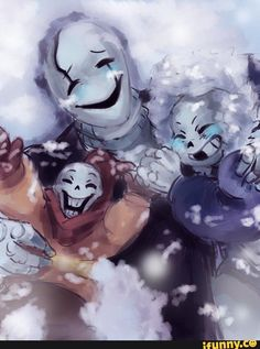 W D  Gaster, Sans, and Papyrus in Snowdin - undertale Photo
