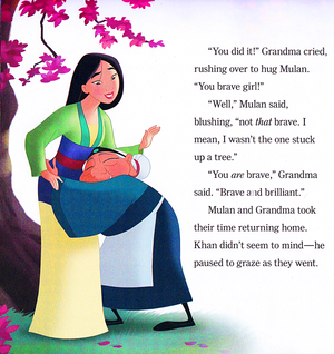 Walt डिज़्नी Book Scans – Mulan: Khan to the Rescue (English Version)
