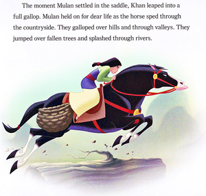 Walt Дисней Book Scans – Mulan: Khan to the Rescue (English Version)