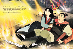 Walt डिज़्नी Book Scans –Mulan: The Story of Fa मूलन (Danish Version)