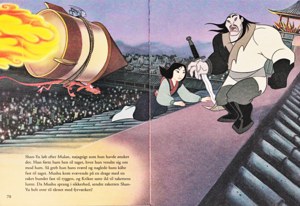 Walt ডিজনি Book Scans –Mulan: The Story of Fa মুলান (Danish Version)