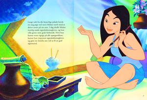 Walt Дисней Book Scans – Mulan: The Story of Fa Мулан (Danish Version)
