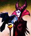 Walt Disney Fan Art - Diablo & Maleficent - walt-disney-characters fan art
