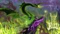 Walt Disney Fan Art - Maleficent & Diablo - walt-disney-characters fan art