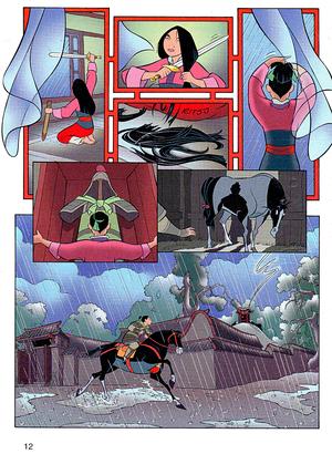 Walt डिज़्नी Movie Comics - मूलन (Danish Version)