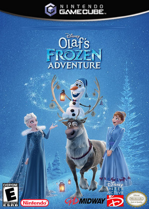 Walt Disney's Olaf's Frozen Adventure (2004) nintendo GameCube cover art
