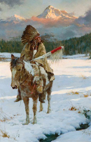 Winter Solitude by Howard Terpning