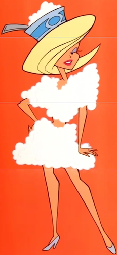Johnny Bravo Hintergrund called Woman in a Low-cal Cottage Cheese Outfit