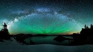 cielo estrellado verde