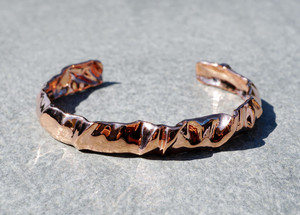 cloth Wrinkle crease Cuff Bracelet bangle Hong Kong fashion designer Vulcan Jewelry 3D printing
