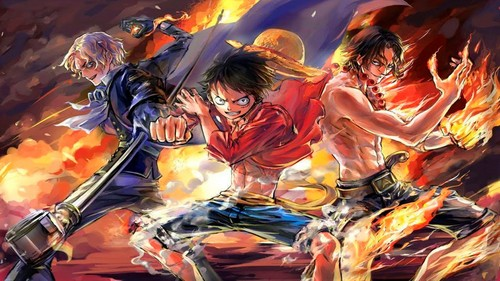 One Piece Wallpaper Titled Luffy Ace Sabo