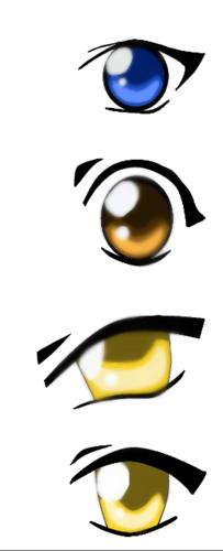 Anime Drawing Hintergrund called my hunter x hunter eyes
