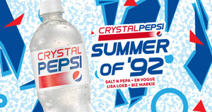 Promo Ad For Crystal Clear Pepsi