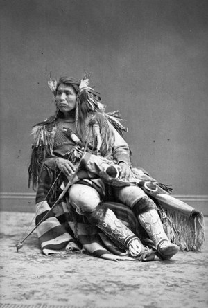 Cappolas Capolis Chief of the Warm Spring Indian Scouts 1874 의해 Thomas Houseworth