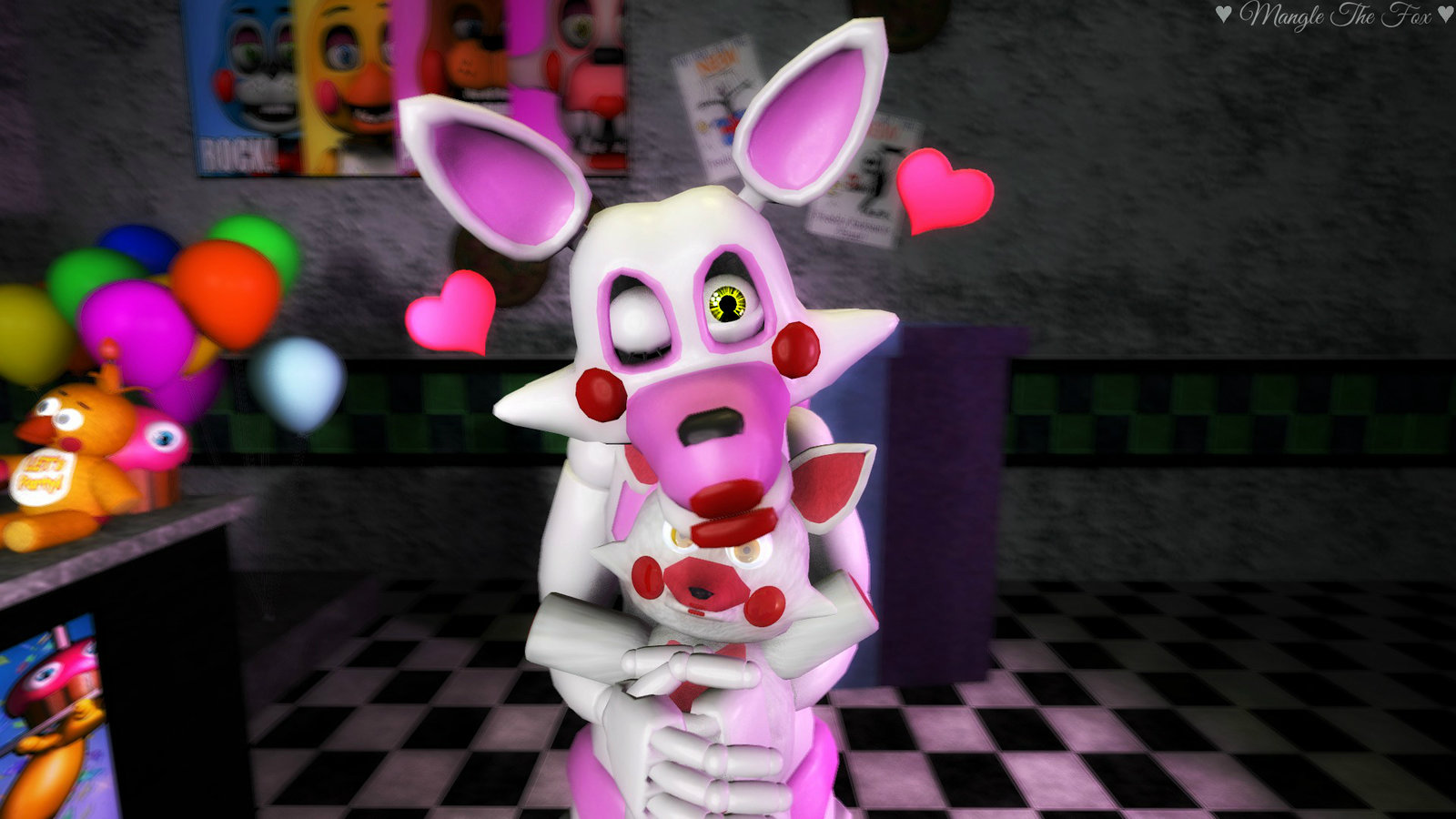 fnaf sfm adorable little mangle sa pamamagitan ng manglethefoxsfm da1g2bd