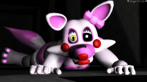 Five Nights at Freddy's wallpaper titled  fnaf sfm  baby mangle crawling in the vent by manglethefoxsfm da5zptn