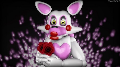 Five Nights at Freddy's 壁紙 titled fnaf sfm mangle with a rose bouquet によって manglethefoxsfm dabirub