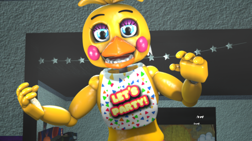 Five Nights at Freddy's wallpaper called  fnaf sfm  toy chica by zombiewarssmt daehgd3
