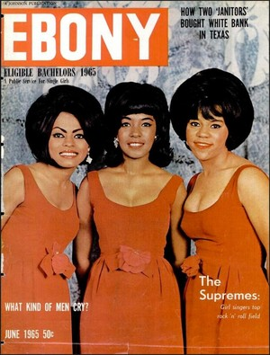 The Supremes On The Cover Of Ebony Magazine
