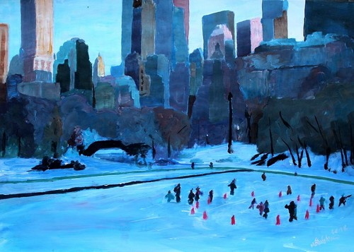 Beautiful Things 壁纸 titled Ice Skating In Central Park