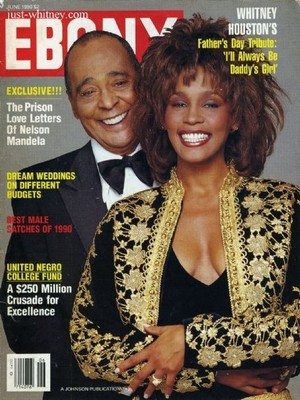 Whitney And Her Father On The Cover Of Ebony