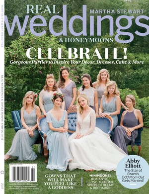Abby Elliott on the cover of Martha Stewart Weddings - 2016