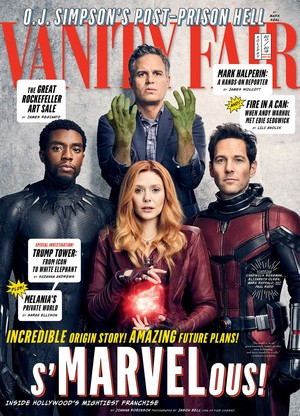 Avengers: Infinity War at Vanity Fair Cover