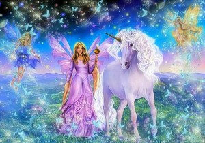 Beautiful Unicorn and Fairy