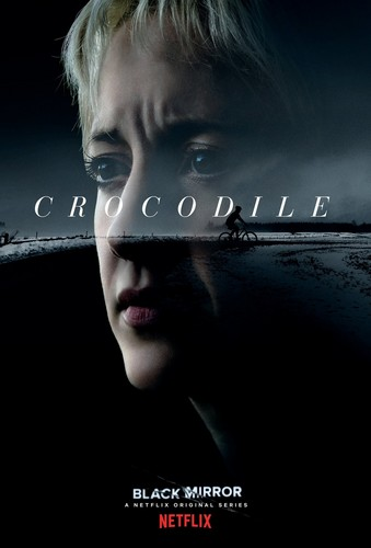 "Black Mirror wallpaper entitled Black Mirror Season 4 ""Crocodile"" Episode Poster"