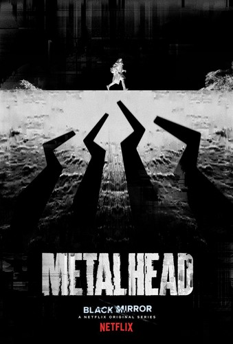 "Black Mirror achtergrond titled Black Mirror Season 4 ""Metalhead"" Episode Poster"