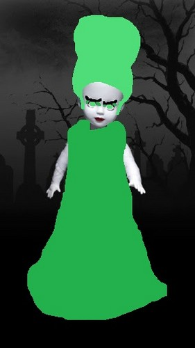 Living Dead Puppen Hintergrund entitled Bride of Green-sheep
