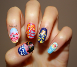 Cecelia Ahern Book Inspired Nails